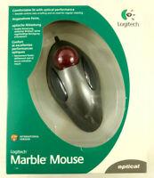 Logitech Souris Track Ball Marble Mouse Optique USB Neuf  Envoi rapide et suivi