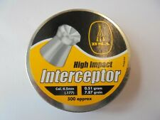 BSA Intercepter.177 4.5 mm  0.51g - 7.87gr 2 tins of 500 (1000 total )