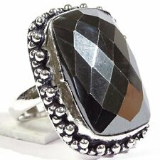 Graceful Hematite Gemstone 925 Silver Jewelry Ring S-7 P4868