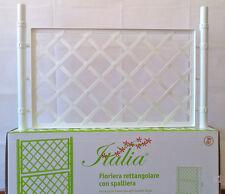 Spalliera di rialzo bianca cm100x50 per fioriera plastica Bellitalia Stefanplast