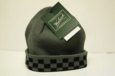Woolrich Men's Buffalo Check Beanie Gray Cap Brand New One size (736)