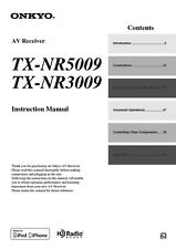 Onkyo Integra TX-NR5009 Receiver Owners Instruction Manual