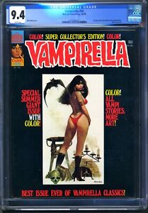 Warren VAMPIRELLA #55 - CGC 9.4 - WP - NM  JOSE GONZALEZ - 1976 YEARBOOK
