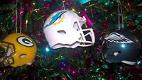 NFL AMERICAN FOOTBALL MINI HELMET CHRISTMAS TREE DECORATION - CHOOSE YOUR TEAM