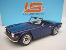 Triumph Tr6 1974 AZUL 1/18 Lucky Step COLECCIONABLES ls002b NUEVO