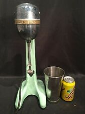 Vtg Hamilton Beach 2 Speed Cast Iron Milkshake Malt Mixer Model 30 Jadeite Green