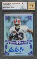 Andre Reed 2017 Leaf Metal Sports Heroes Autograph Prismatic Purple #Baar2 BGS 9
