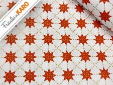 Baumwolle *Sterne rot-gold* Weihnachten