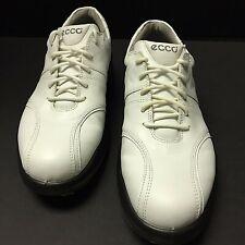 Ecco Womens Sport Tempo Golf Shoes Leather 39573 White Size 8.5 Us 39 Eu