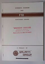 Original Galanti F10 Electronic Organ Schematic Diagrams