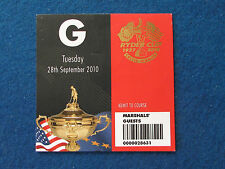 RYDER Cup 2010-CELTIC MANOR-MARSHAL ospite TICKET - 28/9/10
