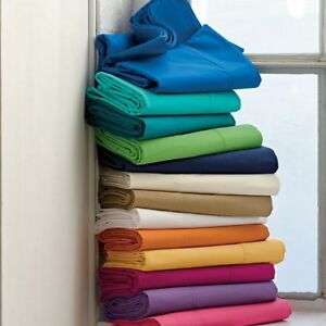 1000 TC Egyptian Cotton Flat Sheet All US Size Solid Colors*