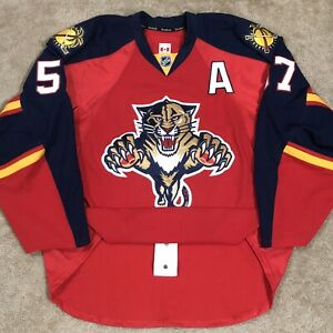Team Issued Reebok Authentic Marcel Goc Florida Panthers NHL Jersey Red Home 58