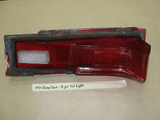 OEM 74 1974 Dodge Dart RIGHT PASS SIDE TAIL LIGHT TAILLIGHT BACKUP REVERSE LENS