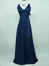 Cherlone Blue Ballgown Wedding Evening Bridesmaid Full Length Formal Dress 18
