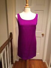 Vintage Ann Klein by Donna Karan Purple Silk Shift Dress Size 6