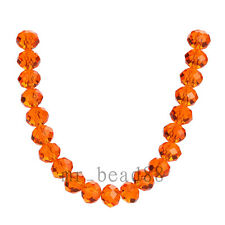 100pcs 4x6mm Faceted Loose Finding Spacer Glass Crystal Beads Findings FREE SHIP
