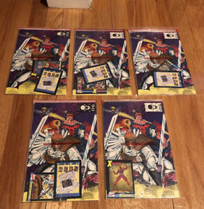 X-Force #1 complete set in Sealed bags with all 5 cards - deadpool Card Lot 3