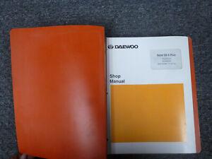 Doosan Daewoo Solar 55 V Plus Excavator Shop Service Repair Manual S/N 1001 UP