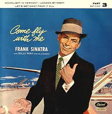 """Frank Sinatra Billy May Come Fly with Me pt3 EP 7""""45rpm 1959 UK vinyl record (f)"""