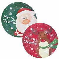 Red Green 33cm Christmas Charger Plate Novelty Reindeer Santa Merry Xmas Design