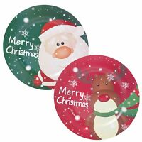Kids 33cm Christmas Charger Plate Novelty Reindeer Design Dining Setting Xmas