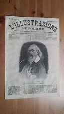 1873 Illustrazione Popolare: Ritratto Vitaliano Crivelli (Lomellina Lomello)
