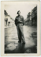 PHOTO ANCIENNE - MILITAIRE RUE CHATEAUROUX WW2 MILITARY STREET -Vintage Snapshot