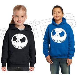 Nightmare Before Christmas Jack, Kids Unisex Hooded Sweatshirt Jumper Hoodie