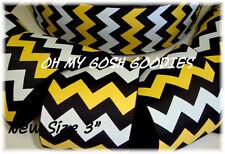 "3"" BLACK GOLD WHITE CHEVRON GROSGRAIN RIBBON 4 CHEER BOW FOOTBALL 4 HAIRBOW"