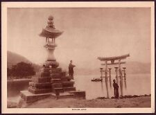 1910's Old Vintage Japan Miyajima Island Temples Photo Photogravure Print