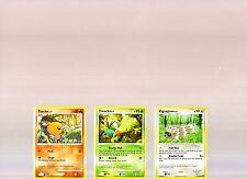 POKEMON TORCHIC 89/106 & TREECKO 90/106 & ZIGZAGOON 96/106 TRADING CARDS!!