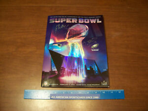 2018 SUPER BOWL 52 PROGRAM COREY CLEMENT AUTO WITH PHILLY SPECIAL INSCRIPTION