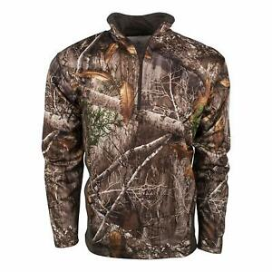 King's Camo KC1 1/4 Zip Pullover Shirt Realtree Edge