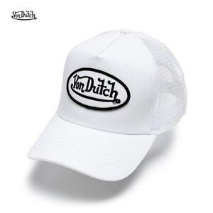 NEW Von Dutch Trucker Hat Breathable and Perspiration Adjustable Hat /white