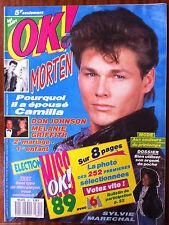 Ok Magazine n°691; Don Johnson, Mélanie Griffith/ Morten/ Sylvie Maréchal