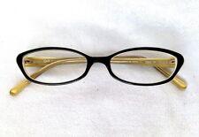 O & X New York Op-74u Fashion Eyeglass Frames 51-16-140 Black/Tan Rx Lenses