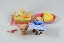 Hasbro Littlest Pet Shop Lps Picnic Park Brown Great Dane Dog 588 Pink Mouse 589