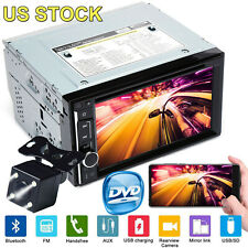 Double 2 Din In Dash Stereo Receiver Car DVD Player Audio Mirror Link + Camera