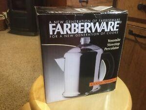 Farberware Classic Stainless Steel Yosemite 8-Cup Coffee Percolator,NIB