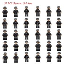 30 pcs ww2 Military Army German Soldiers Mini Figures Building Blocks Toys