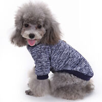 Winter Warmer Woolen Yarn Knit Dog Cats Sweater Pullover Jacket Coat Pet Clothes
