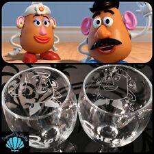 Personalised DISNEY Wedding Glasses Mr & Mrs Potato Head For Bride & Groom Pair