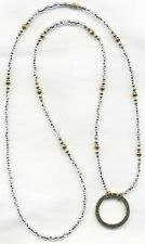 Gold & Silver Eyeglass~Glasses Holder Chain LA LARGE LOOP NECKLACE~RING