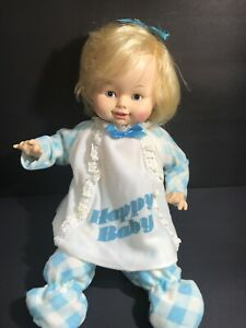 Vintage Horsman Happy Baby DOLL NRFB IN ORIGINAL Box Laughing Giggling 70s