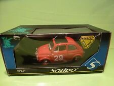 SOLIDO 8044 FIAT 500 - 1965 RALLY MONTE CARLO - RED 1:18 - EXCELLENT IN BOX