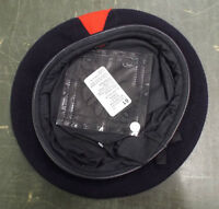 DARK BLUE BERET WITH RED TRIANGLE - Sizes 51 + 61cm , British Army Issue , NEW