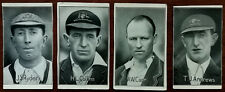 """More details for famous test match cricketers antique cards x4 """"triumph"""" and """"champion"""