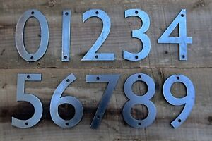 """4"""" Modern Style Iron Metal Steel House Numbers Home Address"""
