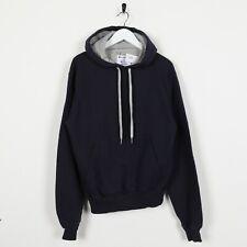 Vintage CHAMPION Hoodie Sweatshirt Navy Blue Small S
